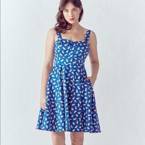 Modcloth Eva Rose Corgi Dress XL